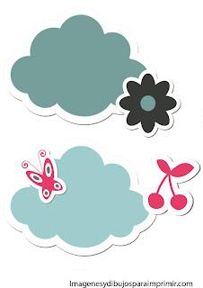 Nubes con flores y primavera Nubes para imprimir