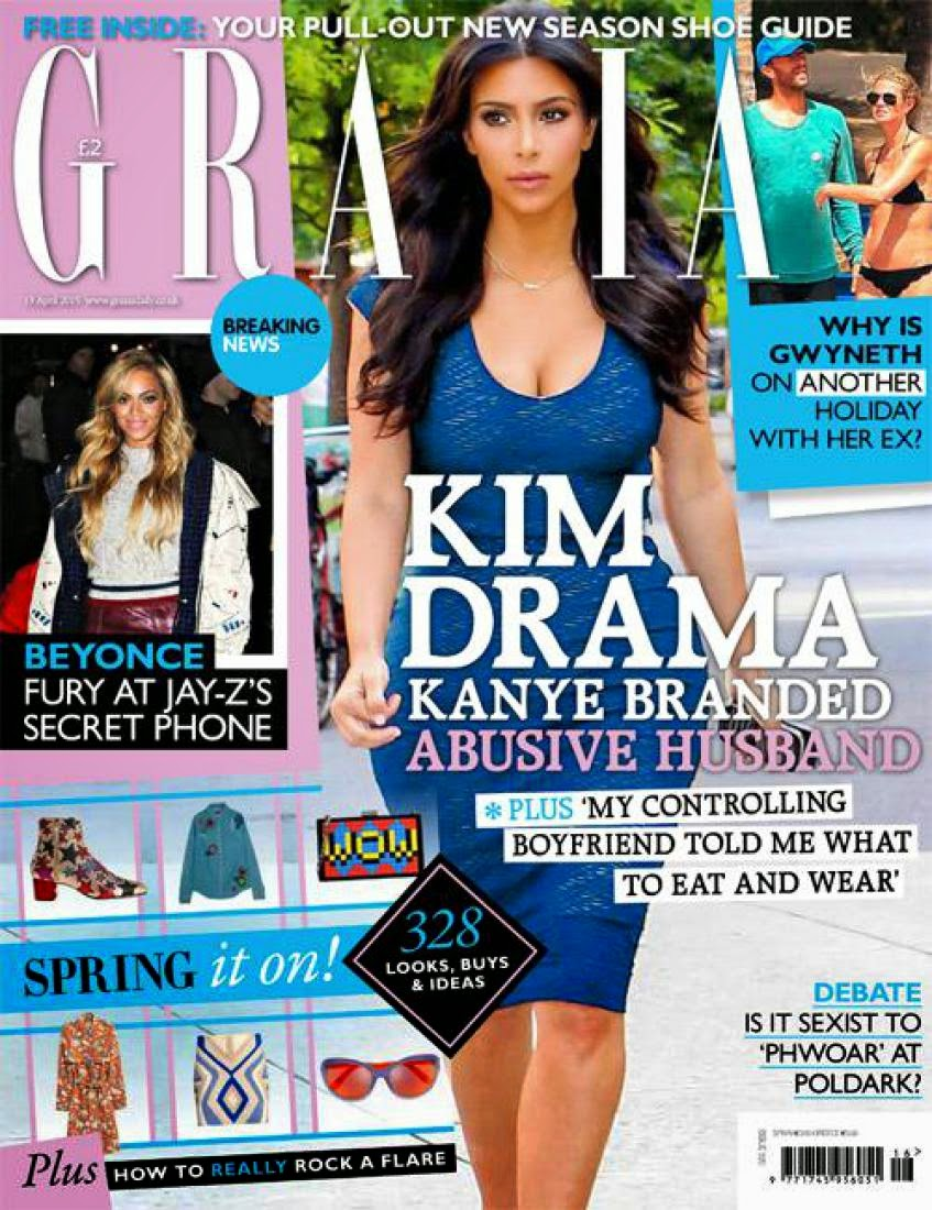 Singer, Television Personality, Socialite, Model @ Kim Kardashian - Grazia UK, April 2015