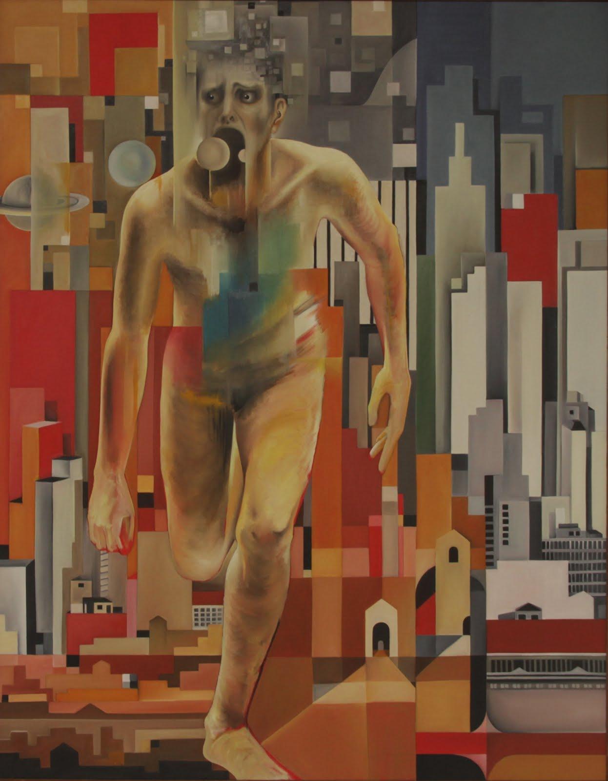 Solange Alves, Ode à Liberdade,  óleo sobre tela, 110x140 cm.