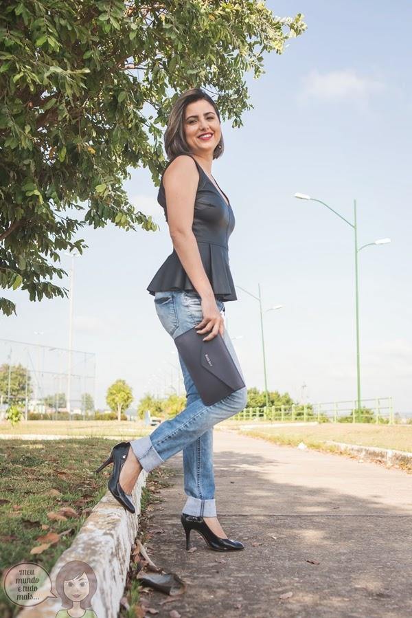 Jeans com barra dobrada