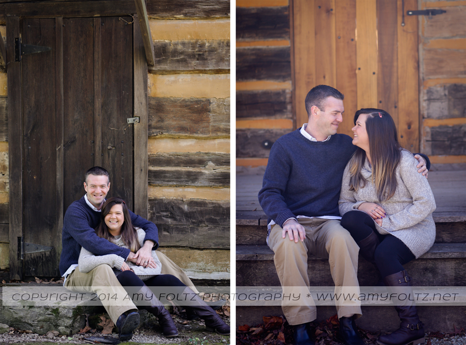 a newlywed session at Fowler Park