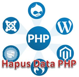 Membuat Coding Hapus Data PHP dengan dreamweaver