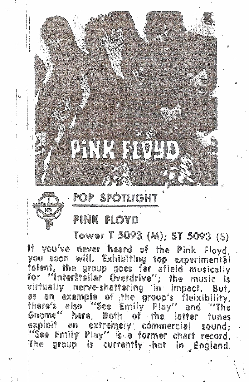 Pink Floyd Tower Records