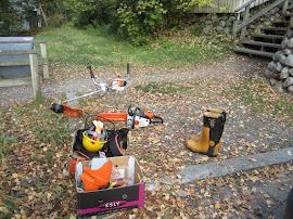Puutarha- ja pihatöissämme Stihlin raivaussaha, Stihlin moottorisahat luotettavina kumppaneina