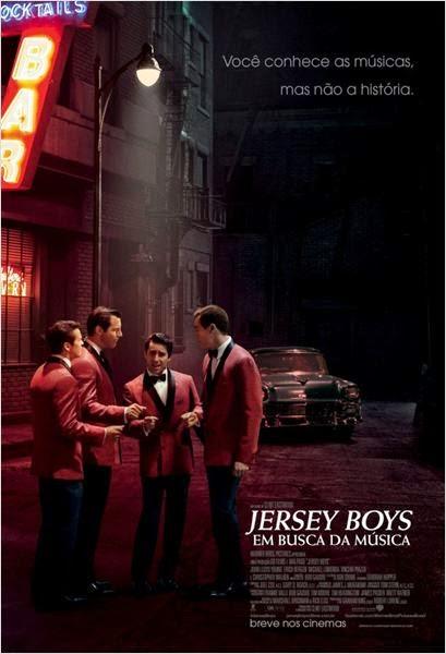 """Poster do filme """"Jersey Boys - Em Busca da Música"""""""