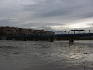 Azud Crecida del río Ebro 22/01/2013 Zaragoza