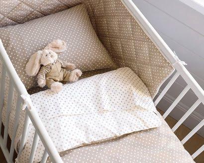 Mes trucs pois blanc sur beige ou beige sur blanc - Tour de lit beige ...