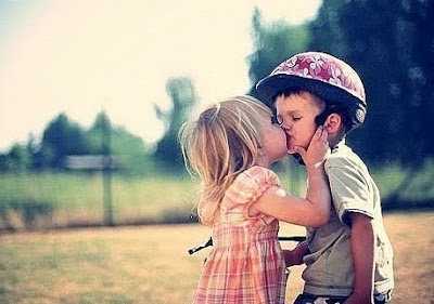 Cute Child Love Kiss