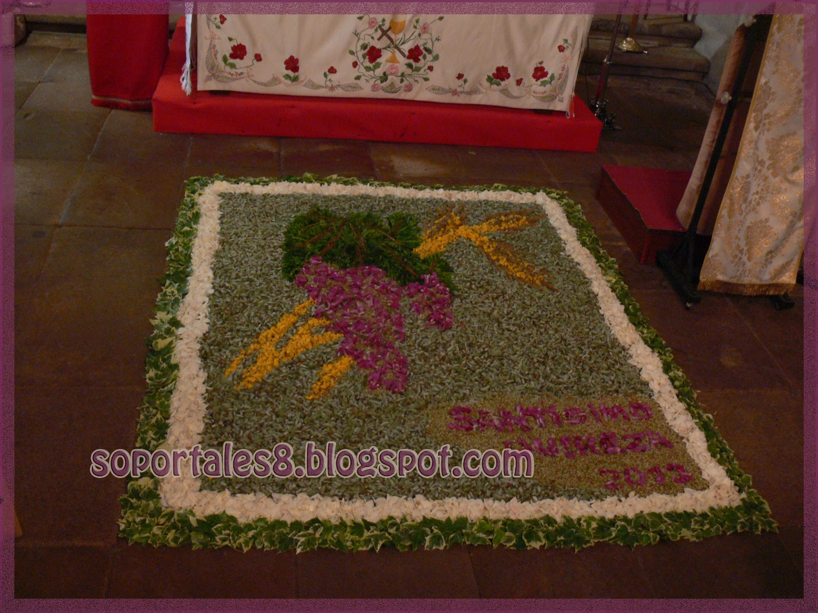 Soportales 8 dise o floral junio 2013 - Alfombra nina ...