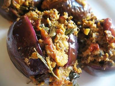 stuffed South Indian Eggplant