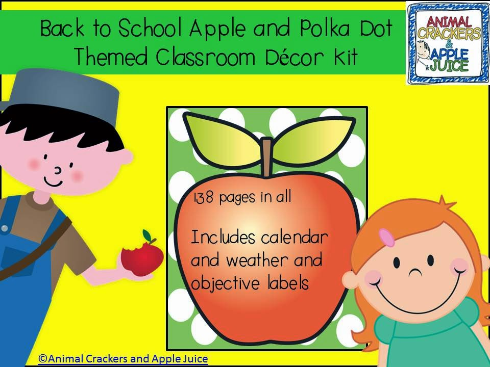 http://www.teacherspayteachers.com/Product/Back-to-School-Apple-Theme-Kit-for-the-Classroom-255814