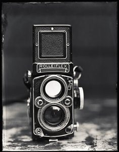 ron cowie, rolleiflex, lisa's camera, wet plate, platinum, panopticon gallery
