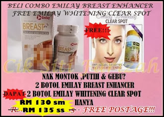 SALE TAHUN BARU !!! BELI 2 EMILAY BREAST ENHANCER DAPAT 2 EMILAY WHITENING CLEAR SPOT