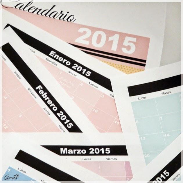Hojas del calendario de 2015