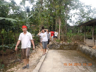 Team menuju lokasi Goa Pindul