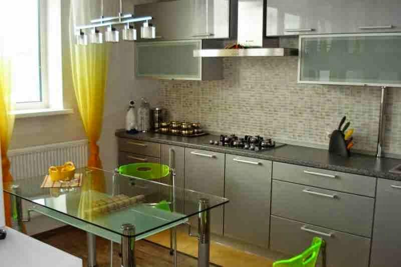 15 modern kitchen curtains ideas and tips 2017 for Modern kitchen valance ideas