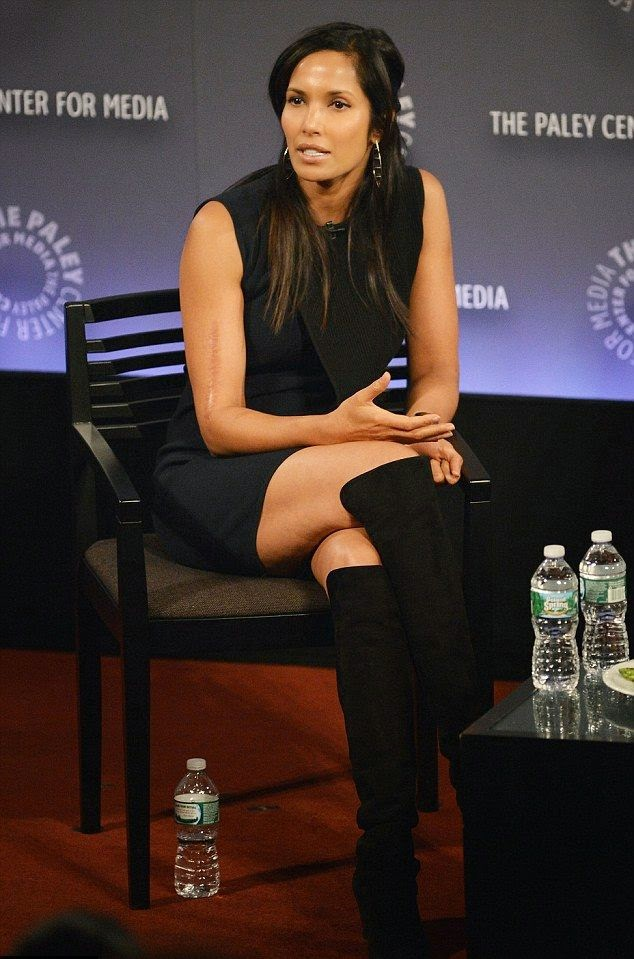 We told Padma Lakshmi to keep it coming and she hasn't disappointed in a dark mini dress as she displaying her speaking skill on intellectual conference at New York City, USA on Thursday, November 20, 2014.