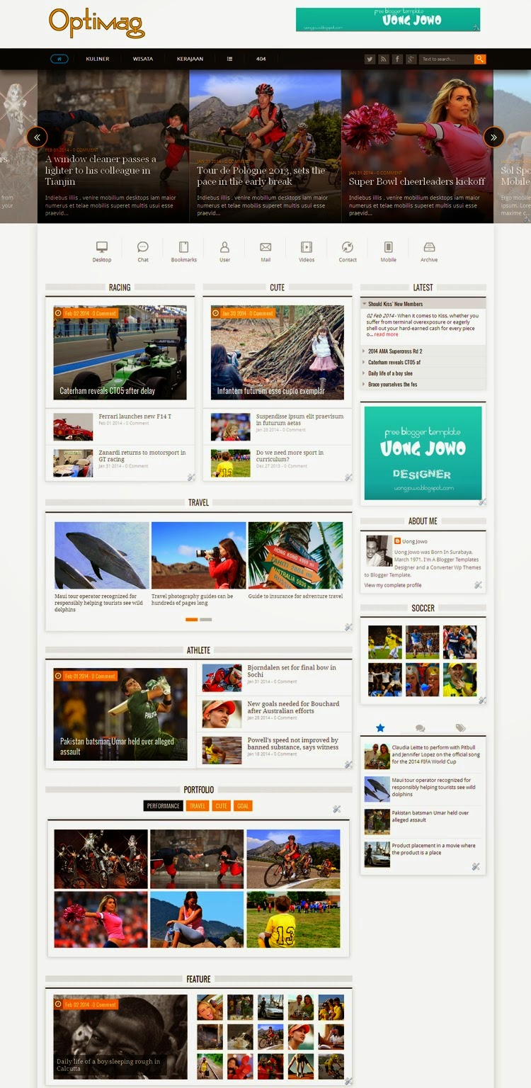 Pretty Blog Template Free Download Contemporary - Entry Level Resume ...