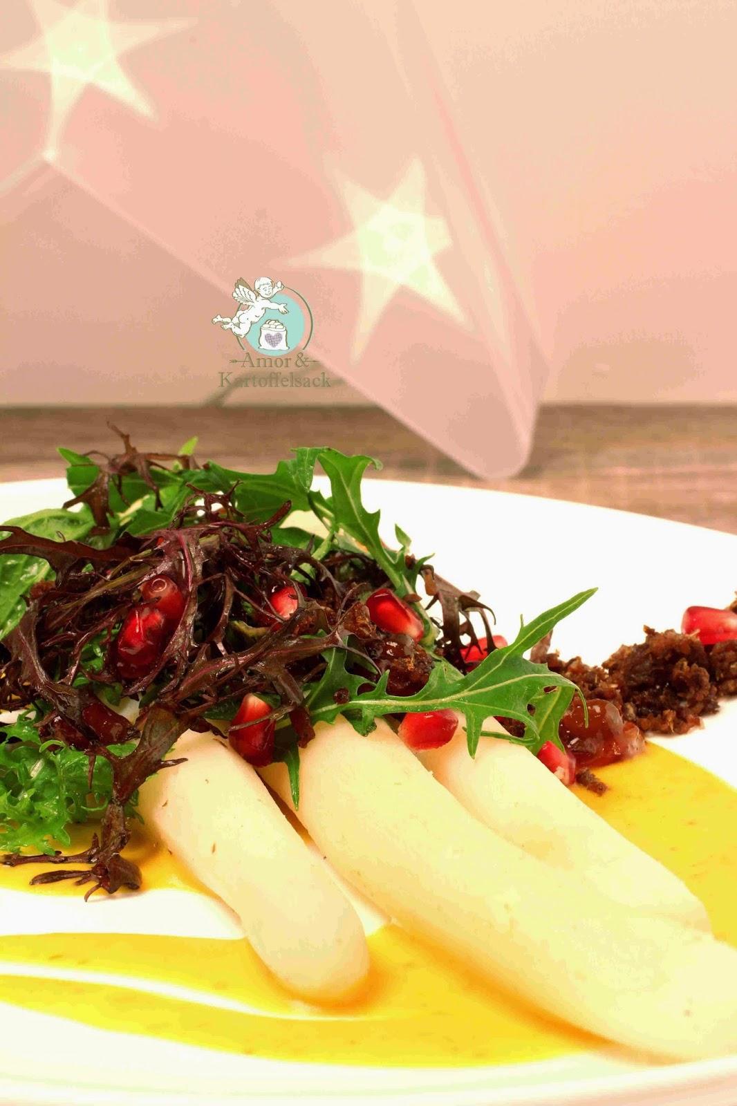 Schwarzwurzel Safran Aprikose Granatapfel Zimt Salat