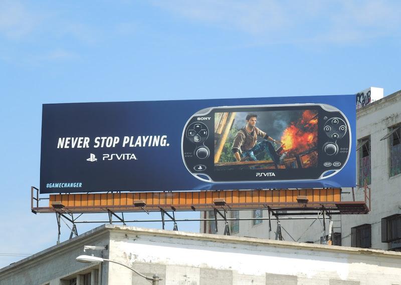 PS Vita games billboard