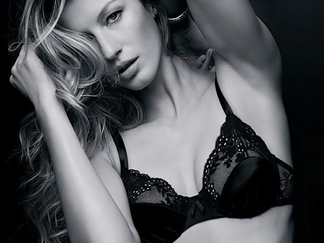 Gisele Bundchen Sexy In Hot GB Intimates Burlesque Lingerie