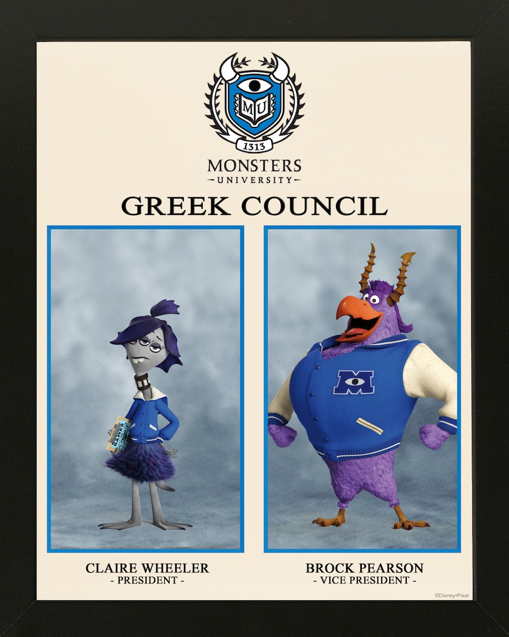 Monsters University Fraternity And Sorority Character