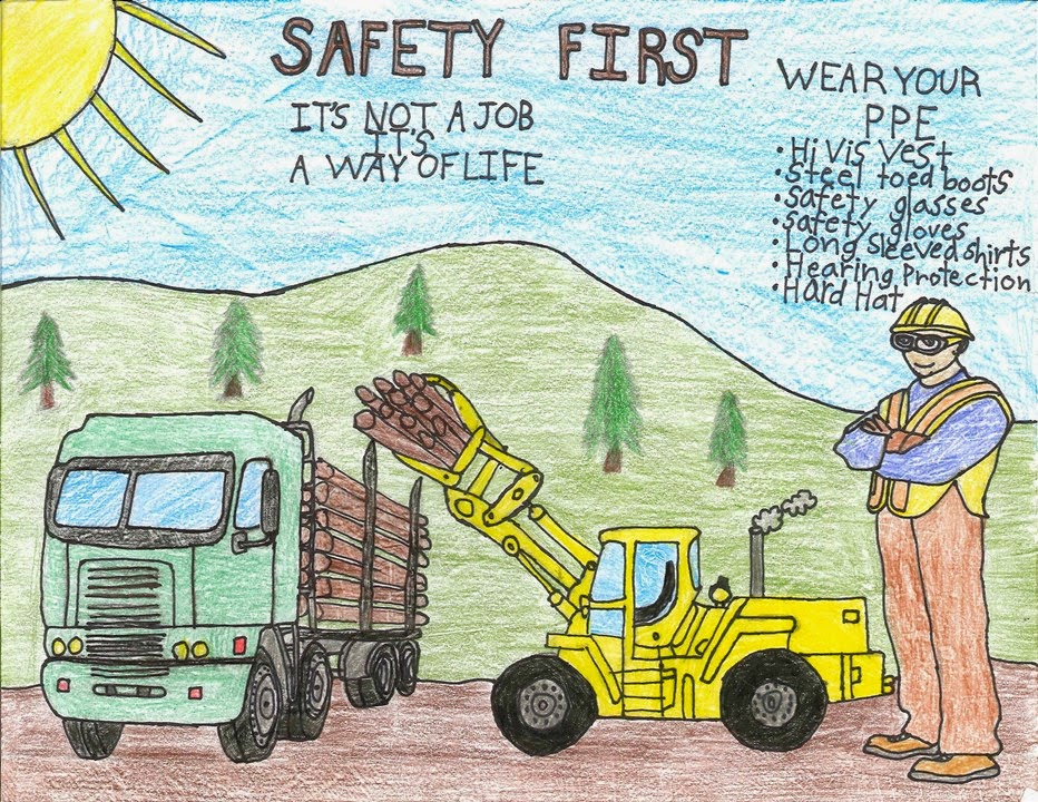 construction safety coloring pages - photo#32