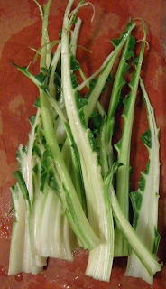 Chard Stems without Leaves