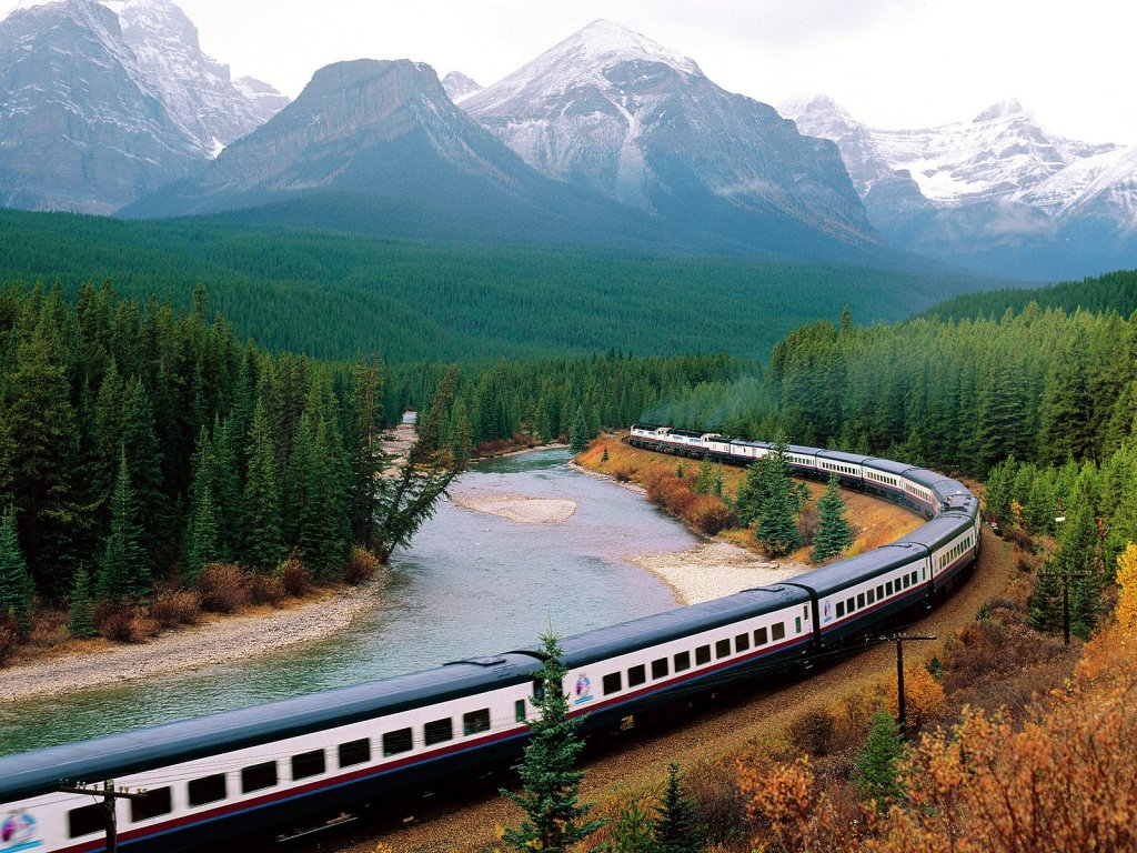 Rail Bow Valley Banff National Park Canada || Top Wallpapers Download .blogspot.com