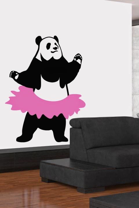 Dancing panda wearing a pink tutu keeps you smiling from ear to ear