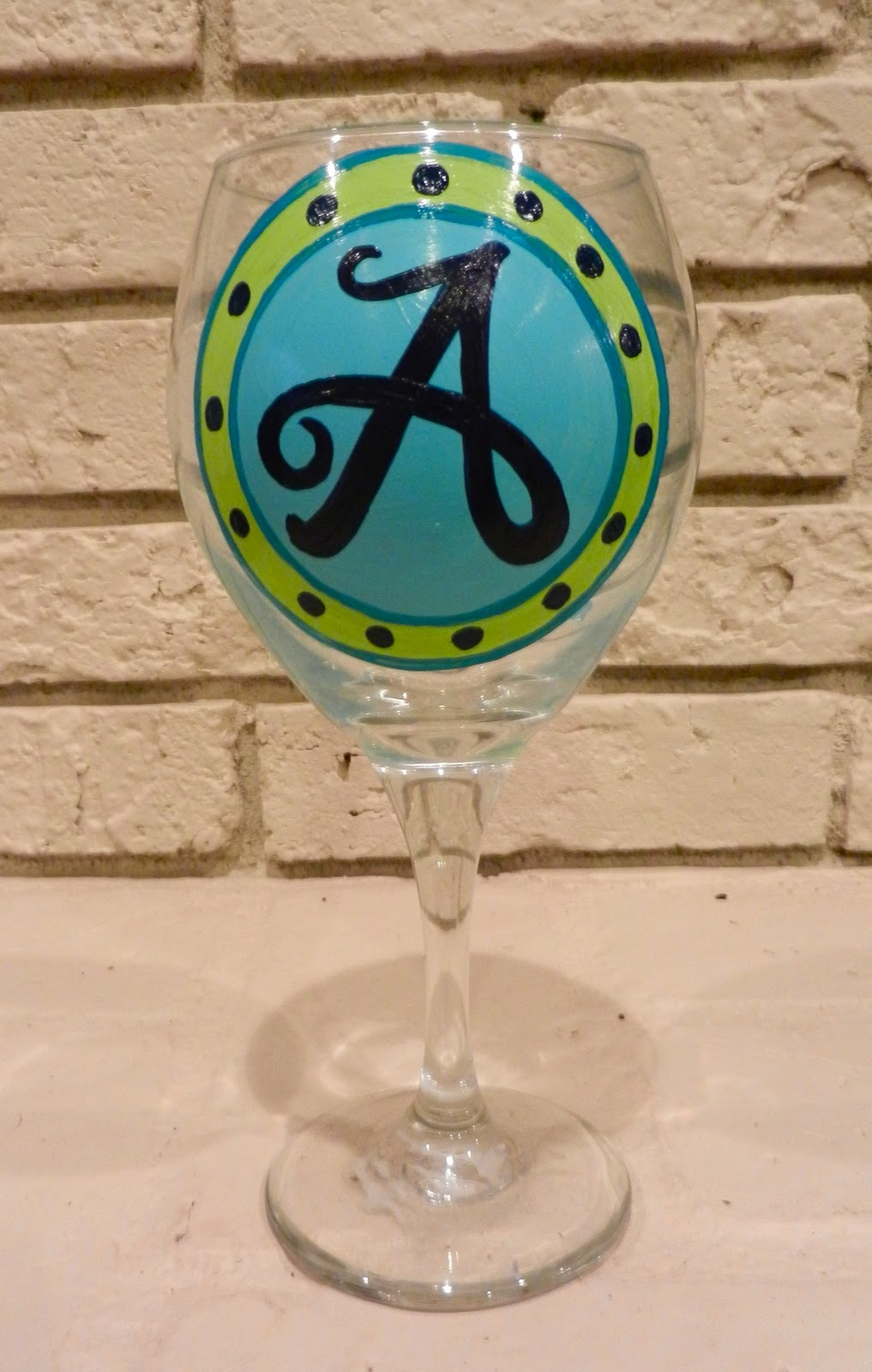 Rhicreates painting on wine glasses for Can i paint glass with acrylic paint