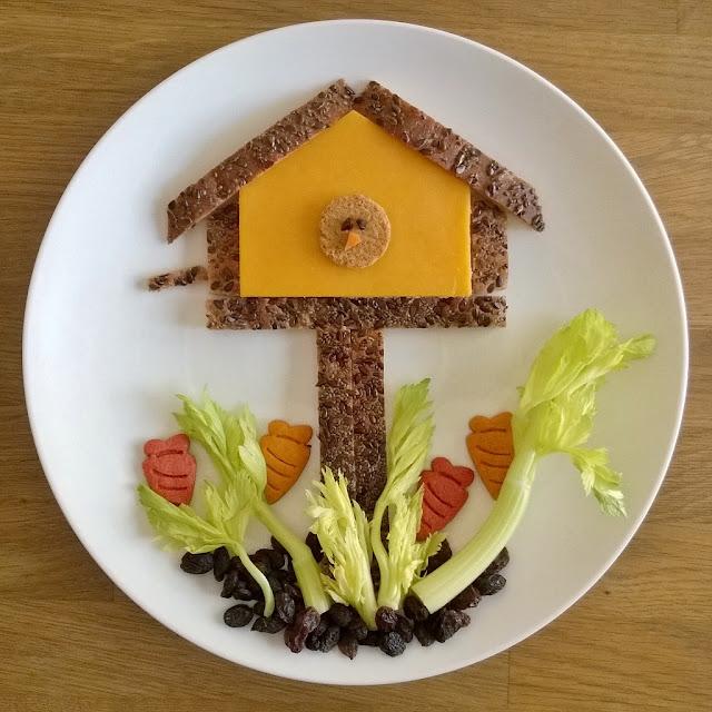 birdhouse food art