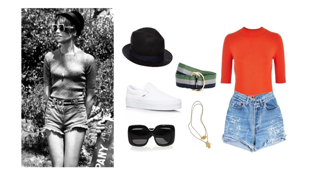 Style Hero Françoise Hardy Fashion High Waist Denim Shorts