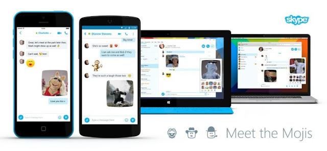 skype feature mojis