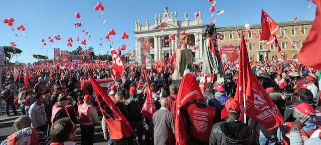Manifestazione Cgil Roma: Camusso e il video con un 1 milione di persone.