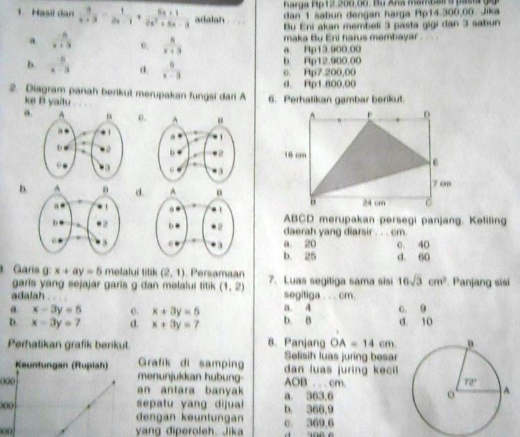 Super Math Indonesia Latihan Ulangan Semester 2 Kelas 8 Matematika