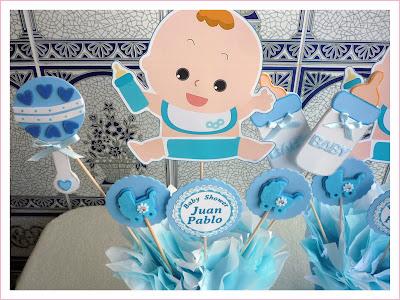 Baby nina fiestas baby shower para juan pablo for Decoracion habitacion bebe goma eva