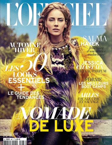 L'Officiel Paris august 2012 cover