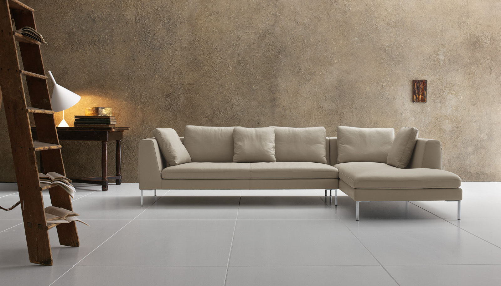 Denny: divano componibile moderno in tessuto o pelle | Tino Mariani