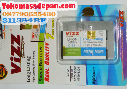 Baterai Double Power Blackberry Gemini Vizz 2200 mAh