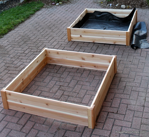 how to build raised garden bed boxes
