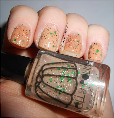 Swatch of Nelly Polishes-Gumpas with topcoat