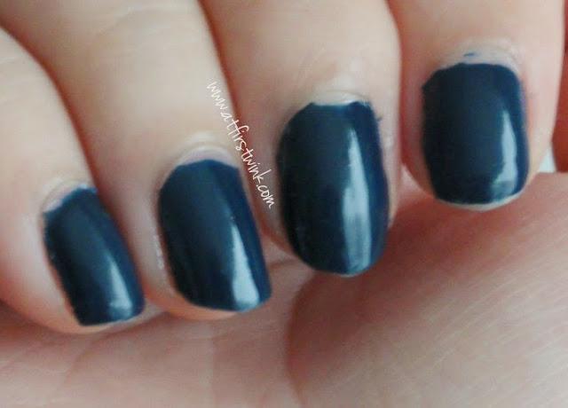 Etude House nail polish DBL602 - Maybe Navy