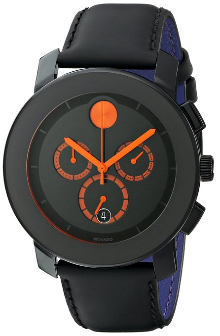 Movado Men's 3600232 Bold Analog Display Swiss Quartz Black Watch