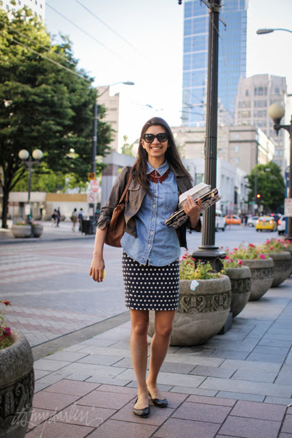 How to Wear Chambray via Darling Cashmere