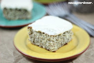 Banana Chia Seed Cake with Vanilla Bean Frosting