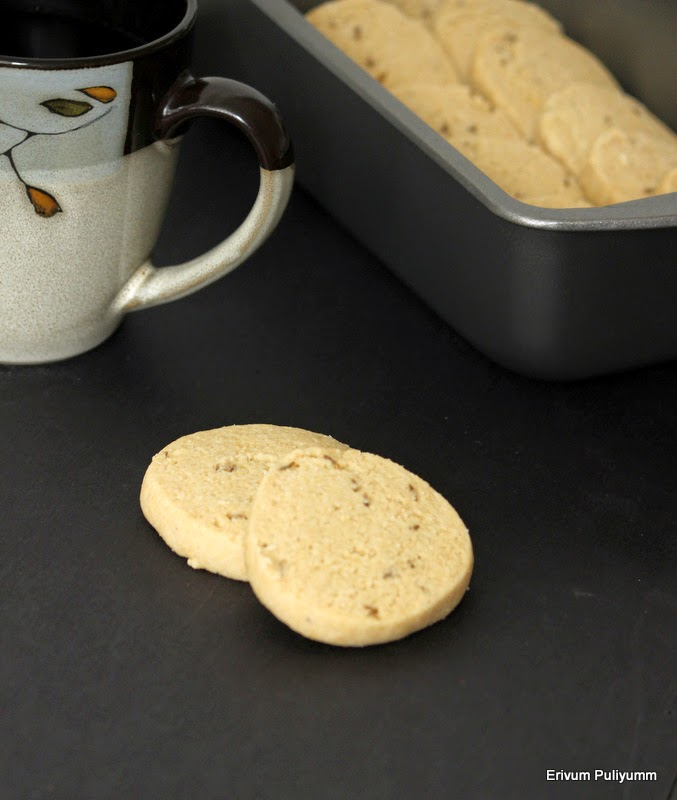 jeera biscuits(eggless) | indian style chai biscuits(step by step pics)