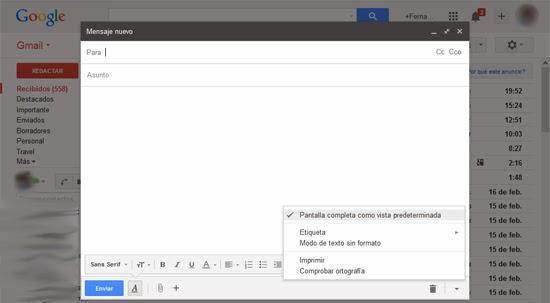 pantalla completa gmail