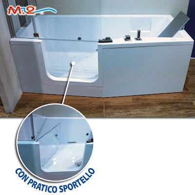Vasca con sportello ad apertura laterale con chiusura a - Vasca da bagno con apertura laterale ...