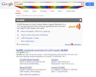 GLAAD Google Search